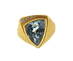 18K Gold Blue Stone Diamond Ring Featured in our upcoming auction on February 23!