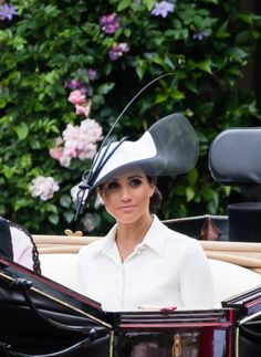Meghan Duchess of Sussex attends Royal Ascot Day 1 at Ascot Racecourse on June 19 2018 in Ascot United Kingdom