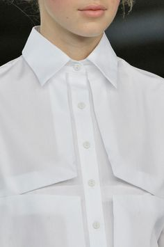 "Christopher Kane. The white shirt will NEVER be de-mode!! ..................My style statement: ""On matters of style, swim with the current, on matters of principle, stand like a rock."" ― Thomas Jefferson"