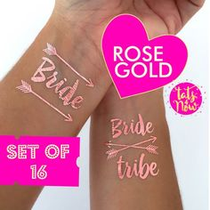Bachelorette party must haves in amazing Rose Gold...bachelorette party favors bride by Tats4now