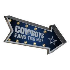 ~Dallas Cowboys Sign Marquee Style Light Up Arrow Design~ backorder Dallas Cowboys Room, Dallas Cowboys Signs, Cowboys Bar, Dallas Cowboys Women, Marquee Sign, Marquee Lights, Cowboys Gifts, Up Arrow, How Bout Them Cowboys