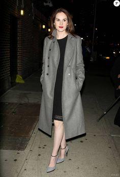 Michelle Dockery à New York le 9 décembre 2015