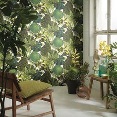 Fuji Emerald Palmeblade - Køb tapet med jungle tema & grønne blade