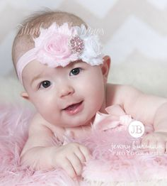 Hey, I found this really awesome Etsy listing at https://www.etsy.com/listing/96187083/pink-and-white-headband-baby-flower