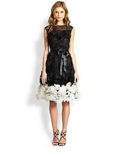 Rosette-Skirted Dress $760.0 by Saks Fifth Avenue