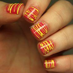 Spun Nail Polish Art nails nail polish nail art diy nails nail ideas nail designs spun