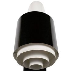 Mid-Century French Wall Lamp Jackfluor by Novalux, Black and White Metal, 1950s   From a unique collection of antique and modern wall lights and sconces at https://www.1stdibs.com/furniture/lighting/sconces-wall-lights/