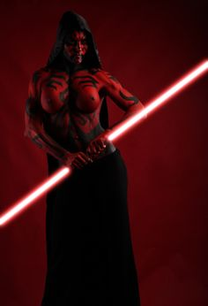 female Darth Maul body paint