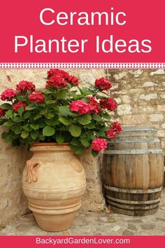 Looking for ceramic planter ideas? I gathered some fun and unique designs to inspire you: large and small, indoor and outdoor, glazed or natural clay pots to display your favorite plants. #claypots #ceramicplanters #planters #gardening #urbangardener #containergardening