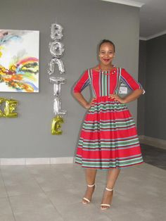 Venda traditional dresses 2019 - style you 7 African Print Dress Designs, African Print Dresses, African Print Fashion, Africa Fashion, African Dress, African Prints, African Design, Venda Traditional Attire, Sepedi Traditional Dresses