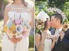 Beautiful paper flower bouquet!