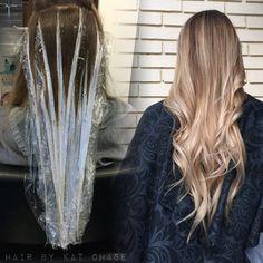 Ash blonde balayage