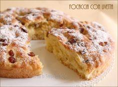 Focaccia with raisins with yeast - Focaccia con uvetta ricetta con lievito di birra