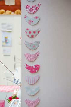 Paper Garland, Shabby Chic BIRDS, Wedding garland, Birthday Party Garland, with… Shabby Chic Crafts, Shabby Chic Homes, Shabby Chic Decor, Decoration Creche, Party Girlande, Shabby Chic Birthday, Baby Mobile, Bunting Garland, Buntings