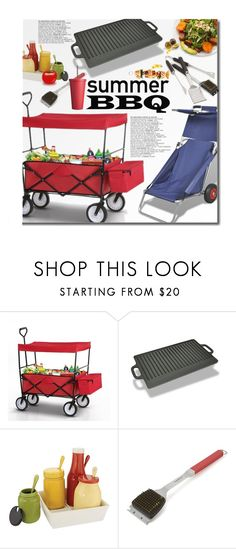 """""""LovDock Summer BBQ"""" by beebeely-look ❤ liked on Polyvore featuring interior, interiors, interior design, home, home decor, interior decorating, Crate and Barrel, Red 23, kitchen and garden"""
