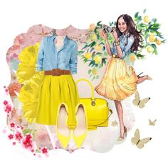 yellow day.., created by tyem on Polyvore