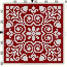 ru / Фото - Le Filet Ancien I - gabbach Filet Crochet, Crochet Cross, Crochet Diagram, Tapestry Crochet Patterns, Fair Isle Knitting Patterns, Knitting Charts, Loom Patterns, Biscornu Cross Stitch, Cross Stitch Embroidery