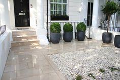 3 simple flower pots on a front patio | Adam Christopher flower pots