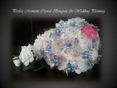 Ice Blue & White Brides Bouquet