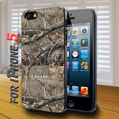 real tree Black Case for iphone 5