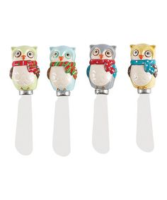 Take a look at this Boston Warehouse Snowy Owls Spreader Set by An Owl a Day Collection on #zulily today!