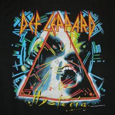 Vintage DEF LEPPARD 1987 HYSTERIA TOUR T-Shirt concert tee