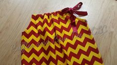 Trendy Maroon and gold chevron Dress for girls - Pillowcase A-line dress…