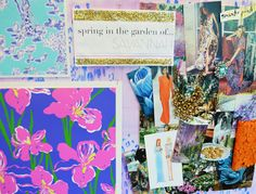 Lilly Pulitzer Inspiration Board for Savannah Spring Delivery