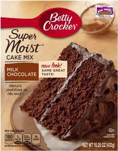 Betty Crocker Supermoist Cake Mix Milk Chocolate 1525Ounce Pack of 4 -- You can find out more details at the link of the image.(This is an Amazon affiliate link and I receive a commission for the sales)