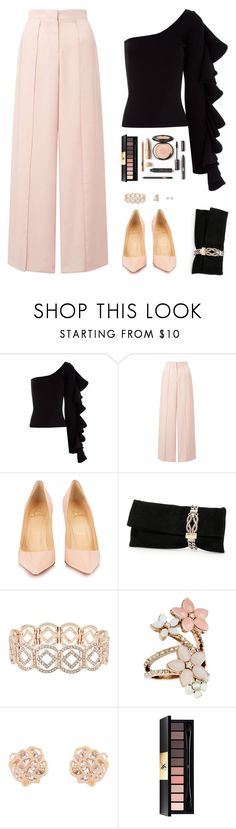 Sin título #4905 by mdmsb on Polyvore featuring moda, Beaufille, Miss Selfridge, Christian Louboutin, Jimmy Choo, Accessorize y Yves Saint Laurent
