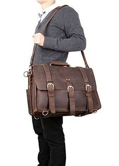 Large Multi Use Leather Travel Bag / Leather Briefcase / Leather Backpack