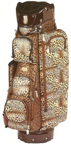 Cutler Sports Ladies Cart Golf Bags - Lauren (Cheetah)