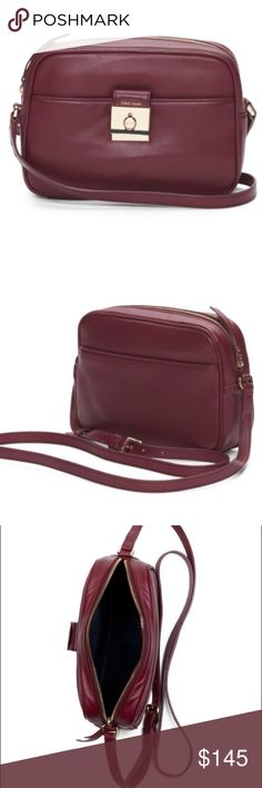 Selling this Cole Haan Leather Crossbody Shoulder Bag NWT Wine on Poshmark! My username is: allinmycloset. #shopmycloset #poshmark #fashion #shopping #style #forsale #Cole Haan #Handbags