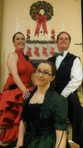 Christmas Ballroom Dancers Craig, Holly Robyn