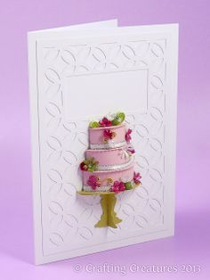 Crafting Creatures: 3D Cake Card with Punched Flowers