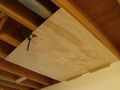 Don Oystryk Removable Panel & Batten Basement Ceiling - Modern Basement Layout, Basement Windows, Basement Walls, Basement Flooring, Basement Bathroom, Basement Ideas, Basement Waterproofing, Basement Makeover, Walkout Basement