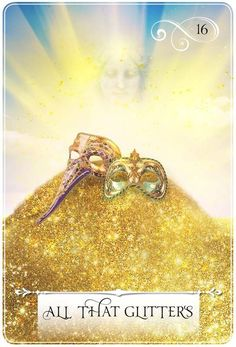 16 All That Glitters; Wisdom of the Oracle; Divination Cards, Oracle Tarot, Healing Words, Angel Cards, Spiritual Guidance, All That Glitters, Card Reading, Deck Of Cards, Wisdom