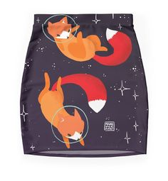 """""""Space Foxes"""" Pencil Skirts by Maike Vierkant 