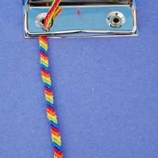 DIY Friendship Bracelet Pattern: Diagonal Stripes DIY Jewelry DIY Bracelet