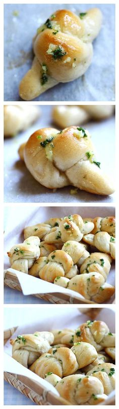 Garlic knots using a store-bought pizza dough and garlic butter. Tasty and easy side dish | rasamalaysia.com | #garlic #side
