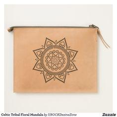 Celtic Tribal Floral #Mandala Travel Pouch   #zazzle