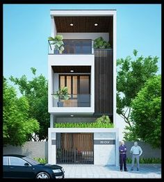 More than 50 Awards Receiving Rewards 25 Rewards Beast Series Bungalow Haus Design, Duplex House Design, House Front Design, Small House Design, Modern House Design, Narrow House Designs, Townhouse Designs, Style At Home, Box Houses