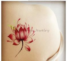 MST0006 Waterproof yoga Tattoo Stickers Colored Water Lily Lotus Flower Water Transfer sexy Temporary Tattoos Stickers