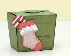 A festive holiday box made using the Cricut® Art Philosophy Collection.