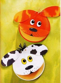 pergamano and paintings Page 16 carterie pergamano and paintings Page 16 Paper Plate Art, Paper Plate Animals, Paper Plate Crafts For Kids, Animal Crafts For Kids, Dog Crafts, Bible Crafts, Craft Activities For Kids, Toddler Crafts, Preschool Crafts