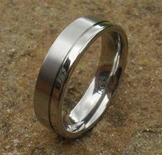 Wedding Ring In Titanium | LOVE2HAVE in the UK! Titanium Wedding Rings, Titanium Rings, Two Tones, About Uk, Jewelry Rings, Rings For Men, Jewelry Making, Engagement Rings, Silver