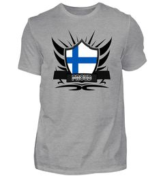 Finnland-Finland Proud Wappen Flagge 012 T-Shirt Mens Tops, Fashion, Crests, Moda, Fashion Styles, Fasion