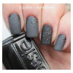 (1) matte nails grey - Hledat Googlem | Nails | Pinterest ❤ liked on Polyvore featuring beauty products and nail care
