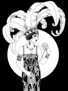 Muito nanquim nas ilustrações de Sveta Dorosheva! Ela tem uma série sobre as