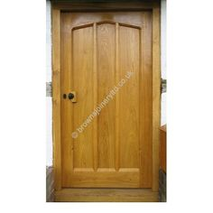Gothic Arched Solid Oak Door With Frame 100 Bespoke
